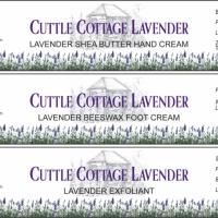 Cuttle Cottage Lavender product labels